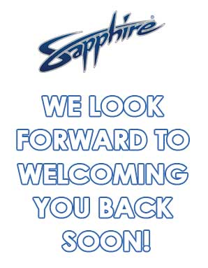 We look forward to welcoming you back soon!