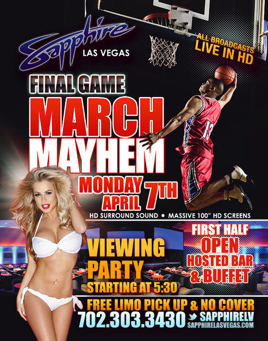 Watch the NCAA Finals Live at Sapphire Las Vegas