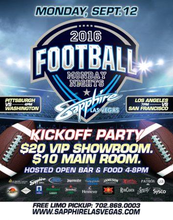 Monday Night Football 2016 - Sapphire Las Vegas