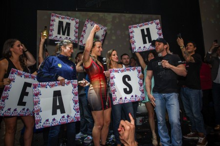 Miesha Tate UFC 196 Post-Fight Party at Sapphire Las Vegas Gentlemen's Club